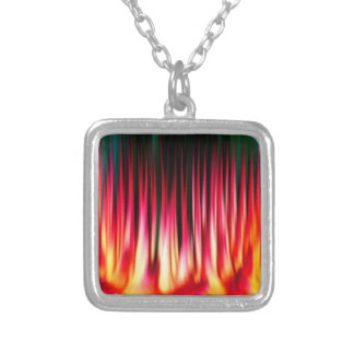 Hell Fire Square Necklace Pendant