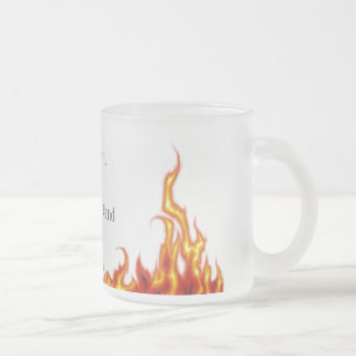Hell Frosted Glass Coffee Mug