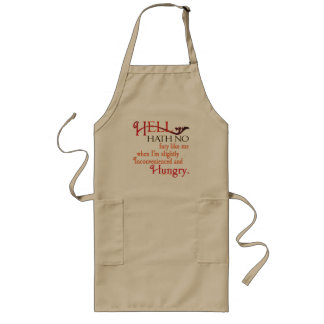 Hell hath no fury red long apron