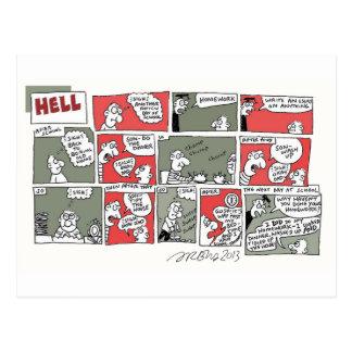 Hell Homework by Sam Backhouse Postcard