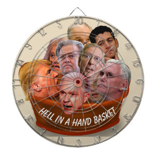 Hell in a Handbasket Personalized Dartboard