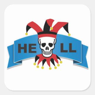 hell logo square sticker