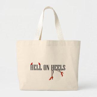 Hell On Heels Legs Horns Canvas Bag