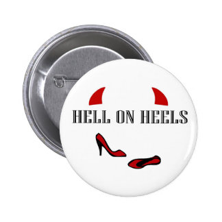 Hell On Heels with little horns Pins