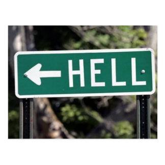hell postcard