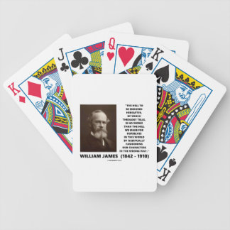 Hell To Be Endured Hereafter William James Quote Poker Deck