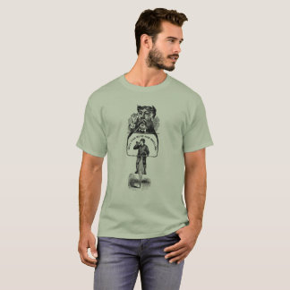 Hell Yeah High Wheel Antique Mustache Cycling T-Shirt