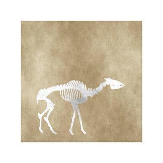 helladotherium skeleton canvas print