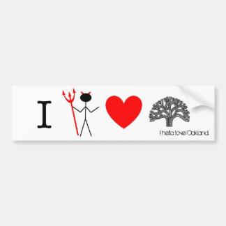 HellaHeartOakland1, I hella love Oakland. Bumper Sticker