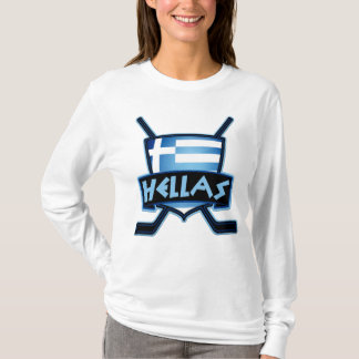 Hellas Greece Ice Hockey Flag Women's Tee