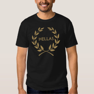 Hellas with Gold olive Wreath T Shirt