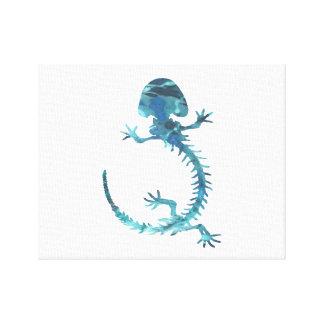 Hellbender Skeleton Canvas Print