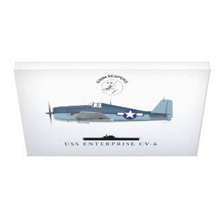 Hellcat and USS Enterprise Canvas Print