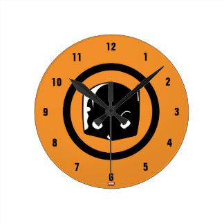 Hellcat Logo Round Clock