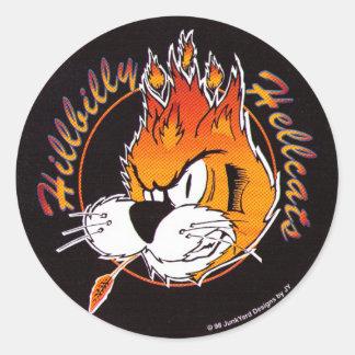 Hellcats logo classic round sticker