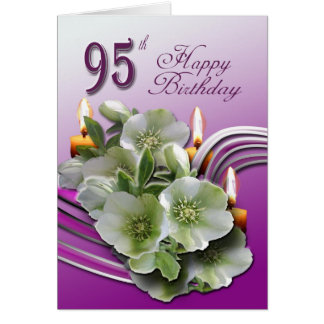 Hellebores 95th Birthday Wishes Greeting Card