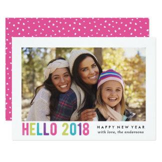 Hello 2018 | Holiday Photo Card