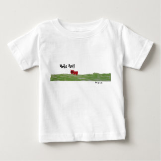 Hello Ant! Playful design on a kids tshirt