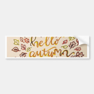Hello Autumn Bumper Sticker