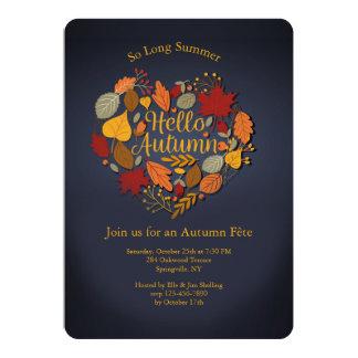 Hello Autumn Heart Invitation