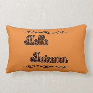 "Hello Autumn Lumbar Pillow 13"" x 21"""
