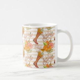 Hello Autumn Pattern Coffee Mug