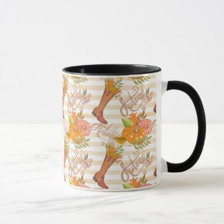 Hello Autumn Pattern Mug
