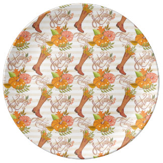 Hello Autumn Pattern Plate