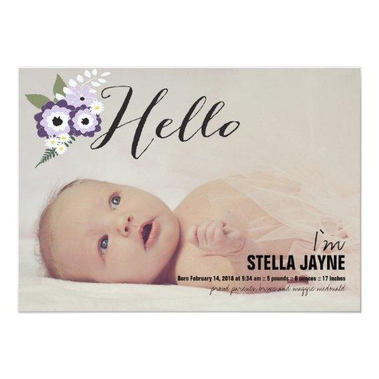 Hello Baby | Baby Announcement