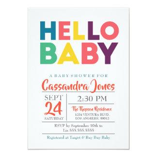 Hello Baby - Gender Neutral Baby Shower Card