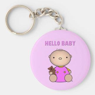 Hello Baby Girl Key Chains