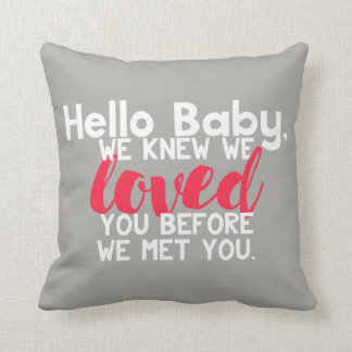 Hello Baby Personalised Pillow