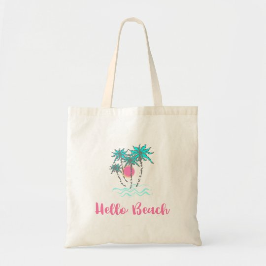 Hello Beach Tropical Style Summer Fun