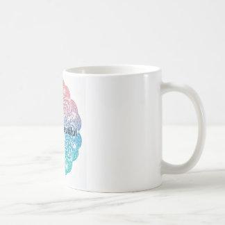 hello Beautiful mandala background Coffee Mug