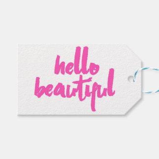 Hello Beautiful | Pink | Tags