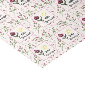 Hello Beautiful Pretty Pink Orange Wildlflower Tissue Paper