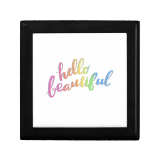 HELLO BEAUTIFUL RAINBOW CALLIGRAPHY GIFT BOX