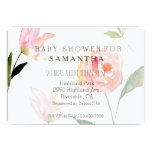 Hello Beautiful Watercolor Floral baby shower 13 Cm X 18 Cm Invitation Card