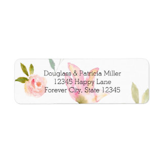 Hello Beautiful Watercolor Floral Return Address Label