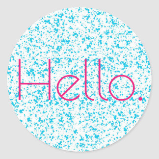 Hello Blue Dalmatian Print Stickers