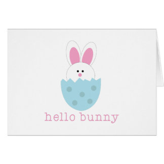 Hello Bunny Greeting Cards