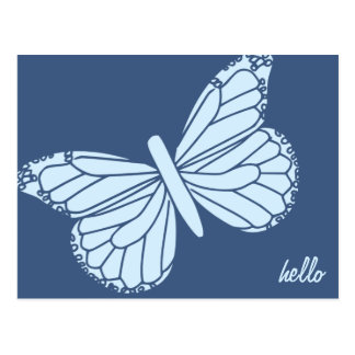 Hello Butterfly Customizable Post Card