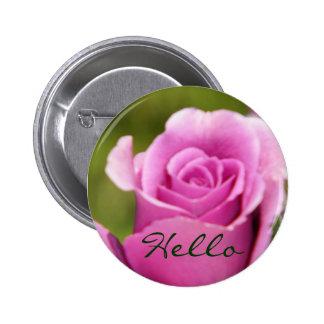 Hello_Button 6 Cm Round Badge
