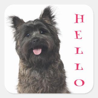 Hello Cairn Terrier Puppy Dog Stickers