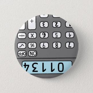 hello calculator 6 cm round badge