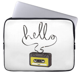 Hello Cassette Tape Neoprene Laptop Sleeve 13 inch