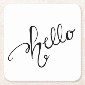 Hello Coaster - Handwritten