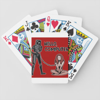 Hello, Computer Bicycle Playing Cards