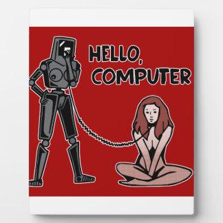 Hello, Computer Photo Plaques