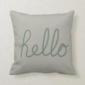 Hello concept green cushion